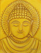Buddhist Painting Originals - Golden Buddha by Sabina Espinet