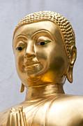 Golden Buddha Statue Print by Antony McAulay