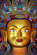 Buddhism Art - Golden Buddha by Steve Harrington