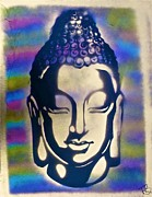 Free Speech Paintings - Golden Buddha by Tony B Conscious