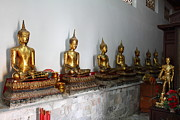 Golden Photo Prints - Golden Buddha - Wat Pho - Bangkok Thailand - 01133 Print by DC Photographer