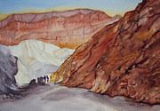 Lynne Bolwell Art - Golden Canyon and Red Cathedral by Lynne Bolwell