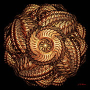 Business Digital Art - Golden Celtic Mandala by Michael Durst