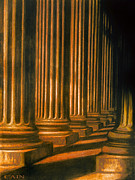 Neo-classical Posters - Golden Columns Art print Poster by William Cain