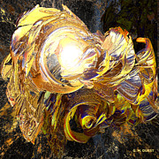 Science Fiction Digital Art Originals - Golden Core by Michael Durst
