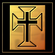 Easter Art - Golden Cross 3 by Rose Santuci-Sofranko