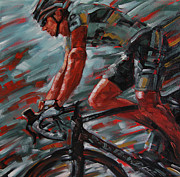 Cycling Originals - Golden Cycler by Dennis Line