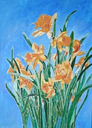 Saint David Posters - Golden Daffodils Poster by Tracey Harrington-Simpson