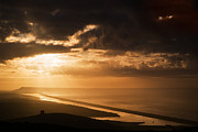 Chesil Beach Prints - Golden Dawn Print by Kris Dutson