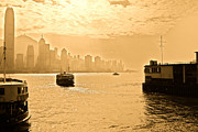 Tsim Sha Tsui Prints - Golden day Print by Richard WAN