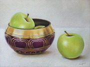 Still Life Framed Prints - Golden Delicious Framed Print by Ranjini Venkatachari