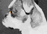 Puppies Digital Art - Golden Dog Eye by Michelle Elaine Smith
