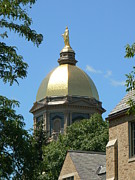 Universities Mixed Media Metal Prints - Golden Dome Notre Dame Metal Print by Connie Dye