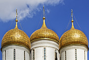 Domes Prints - Golden Domes Print by Elena Nosyreva