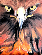 Mascot Painting Prints - Golden Eagle Print by Maris Sherwood