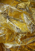 Shiny Fabric Prints - Golden Fabric Print by Carlos Caetano