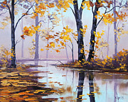 Beech Paintings - Golden Fall by Graham Gercken