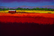 Landscapes Pastels Posters - Golden Field Poster by David Patterson