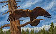 Eagle Paintings - Golden Flex by Crista Forest