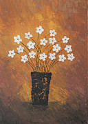Home Art Metal Prints - Golden flowers Metal Print by Home Art