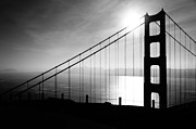 Golden Gate And Bay Bridges Print by Joy Patzner