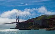 Golden Gate And Fog Print by Rima Biswas