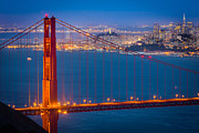 Bay Bridge Prints - Golden Gate and San Francisco Print by Inge Johnsson