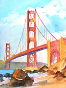 Bay Area Paintings - Golden Gate Bridge 3 by Carlin Blahnik