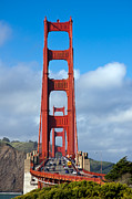 San Francisco Landmark Art - Golden Gate Bridge by Adam Romanowicz