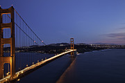 Sausalito Prints - Golden Gate Bridge After Dark Print by Kevin L Cole