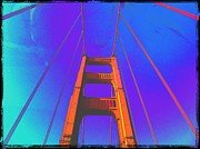 Recently Sold - Featured Art - Golden Gate Bridge color by Eugene Evon