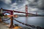 Sausalito California Metal Prints - Golden Gate Bridge Metal Print by Eduard Moldoveanu