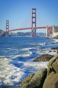 Featured Framed Prints - Golden Gate Bridge From Baker Beach San Framed Print by APlights