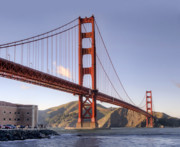 Alcatraz Prints - GOLDEN GATE BRIDGE in SAN FRANCISCO Print by Daniel Hagerman