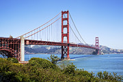 Sausalito Prints - Golden Gate Bridge Print by Kelley King