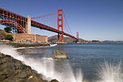 Breakers Framed Prints - Golden Gate Bridge Framed Print by Melanie Viola