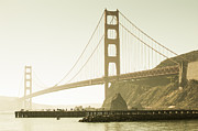 Sausalito Metal Prints - Golden Gate Bridge North Metal Print by SFPhotoStore