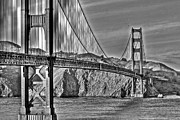 Bridges Art - Golden Gate Bridge Over the Bay 2 by SC Heffner