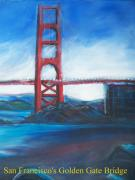 Golden Gate Drawings Posters - Golden Gate Bridge Poster Poster by Eric  Schiabor