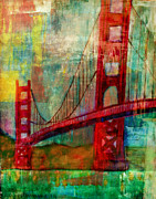 Golden Gate Mixed Media - Golden gate Bridge San Francisco  by Sacred  Muse