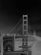 Sausalito Prints - Golden Gate Bridge to Sausalito Print by Connie Fox