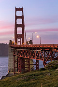 Kate Brown Framed Prints - Golden Gate Bridge Towers Framed Print by Kate Brown