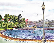 Irina Sztukowski - Golden Gate Bridge View From Aquatic Park San Francisco