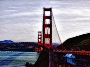 National Treasure Prints - Golden Gate Print by Camille Lopez