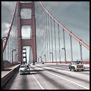 California Tourist Spots Prints - Golden Gate Crossing Print by Eric  Bjerke Sr