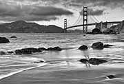 Jamie Pham - Golden Gate Drama from Marshalls Beach in black and white.