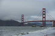 Golden Gate Framed Prints - Golden Gate from Baker Beach Framed Print by David Bearden