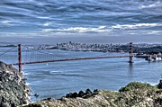 Golden Gate Art - Golden Gate from Marin Headlands by SC Heffner