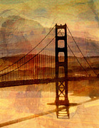 Golden Gate Mixed Media - Golden Gate Hues by David Tanner