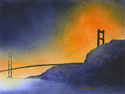 Marin County Originals - Golden Gate in Orange by Janaka Ruiz